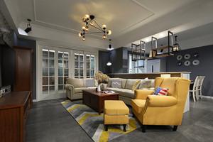 浅灰色瓷砖客厅效果图