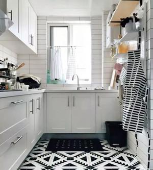 简约厨房瓷砖装修效果图