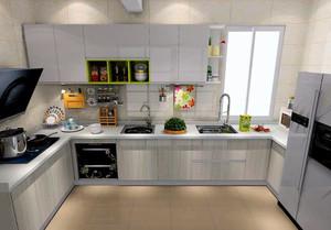 厨房u型橱柜装修效果图