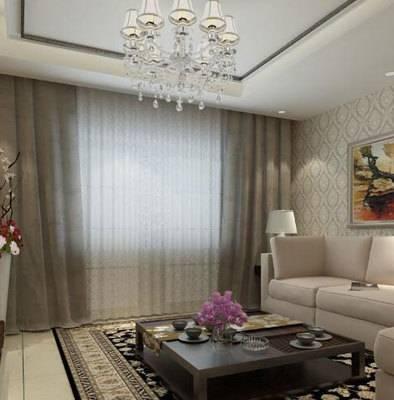 客厅小客厅窗帘效果图