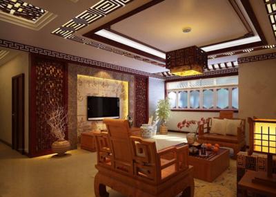 中式客厅吊顶装修效果图赏析
