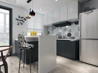 120平米簡約風格廚房裝修圖片