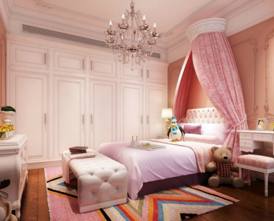 現代簡約公主臥室裝修效果圖