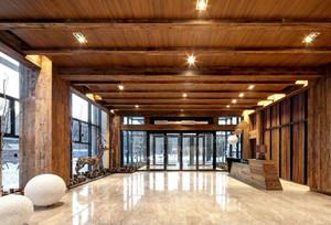 木質寫字樓大廳吊頂裝修效果圖