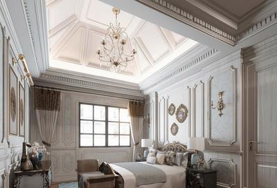 欧式挑高型卧室吊顶装修效果图