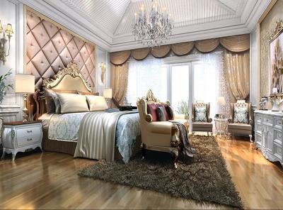 古典豪華臥室裝修設計效果圖