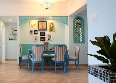 地中海风格餐厅设计图