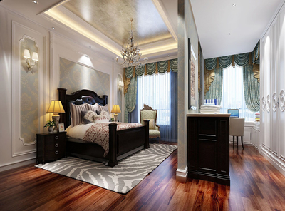 卧室地面装修图
