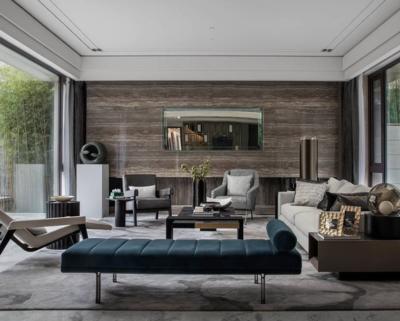 现代简约会客厅装修设计效果图