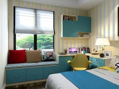 地中海飘卧室飘窗设计效果图