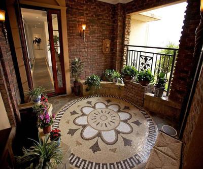 美式別墅入戶花園設計