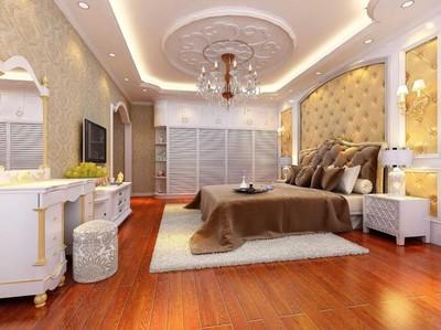 欧式风格卧室吊顶装修设计效果图