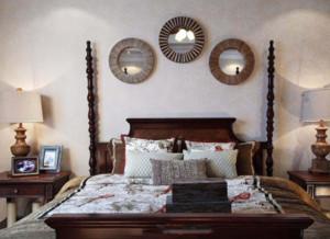 卧室 美式 背景墙 别墅装修