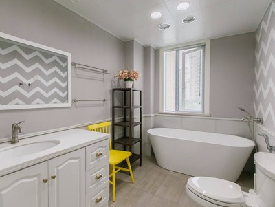 北欧风格卫生间浴缸装修效果图