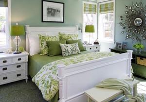 十平米墨绿色卧室装修效果图
