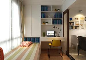 书房榻榻米床柜一体效果图欣赏