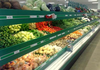 小蔬菜超市装修效果图