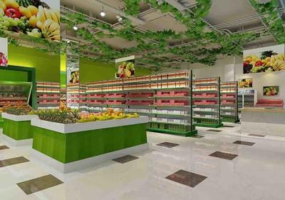 水果蔬菜超市装修效果图