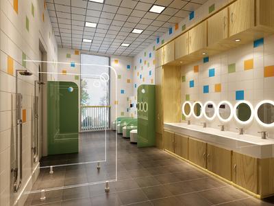 幼儿园创意卫生间装修效果图