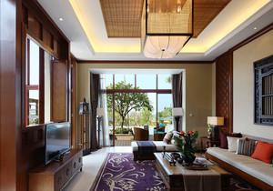 东南亚风格客厅装修效果图2019