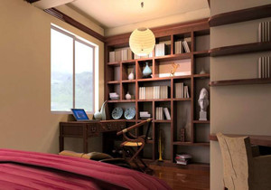 书房 中式 局部 一居室装修