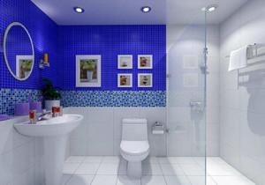 淺藍色衛生間裝修效果圖