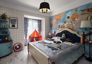 儿童房美式壁纸装修效果图2019款