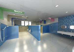 开放式幼儿园卫生间装修效果图