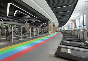 200平米健身房平面布置图