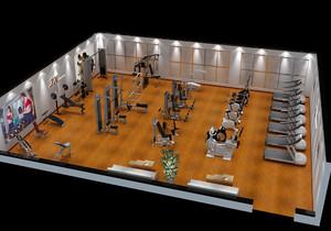 300平健身房平面布置图