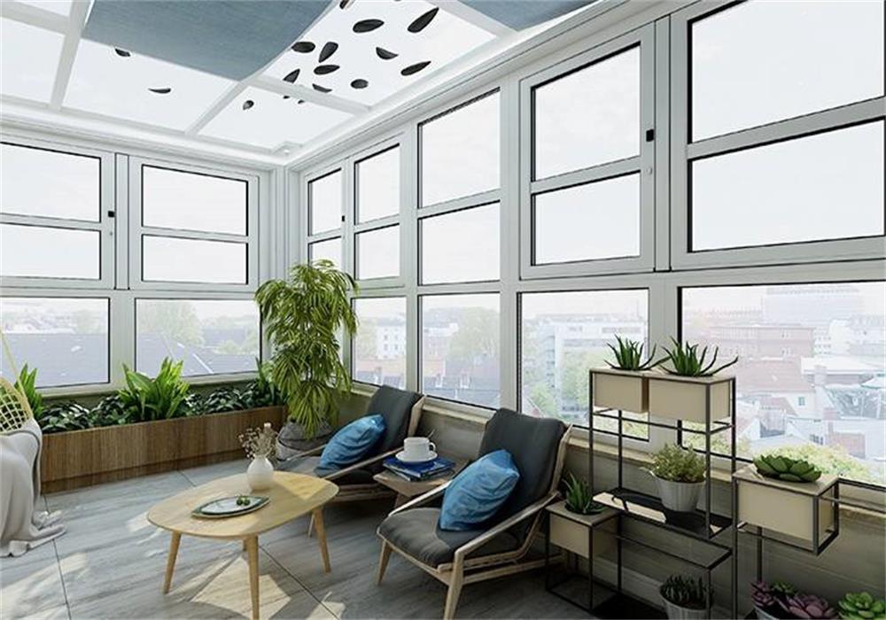 新中式别墅阳台装修效果图