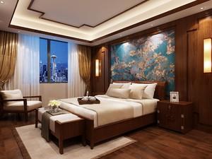 新中式�L格酒店�P室�b修效果�D