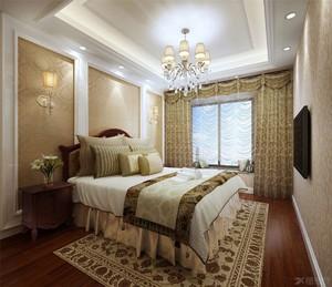 别墅主卧室欧式装修效果图