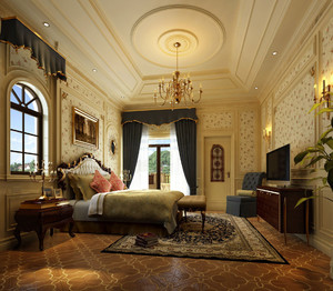 别墅主卧室装修效果图大全图片