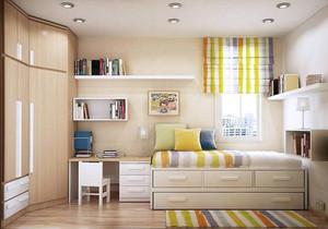 多功能卧室兼书房装修效果图