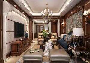 經典美式客廳裝修效果圖大全