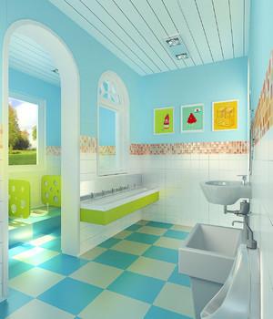 小型幼儿园卫生间装修效果图