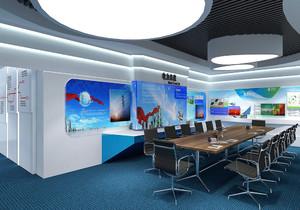 装修公司内部展厅设计效果图