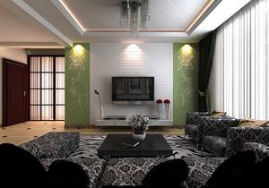 客厅 简约 背景墙 一居室装修