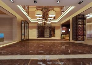 賓館大廳背景墻裝修效果圖