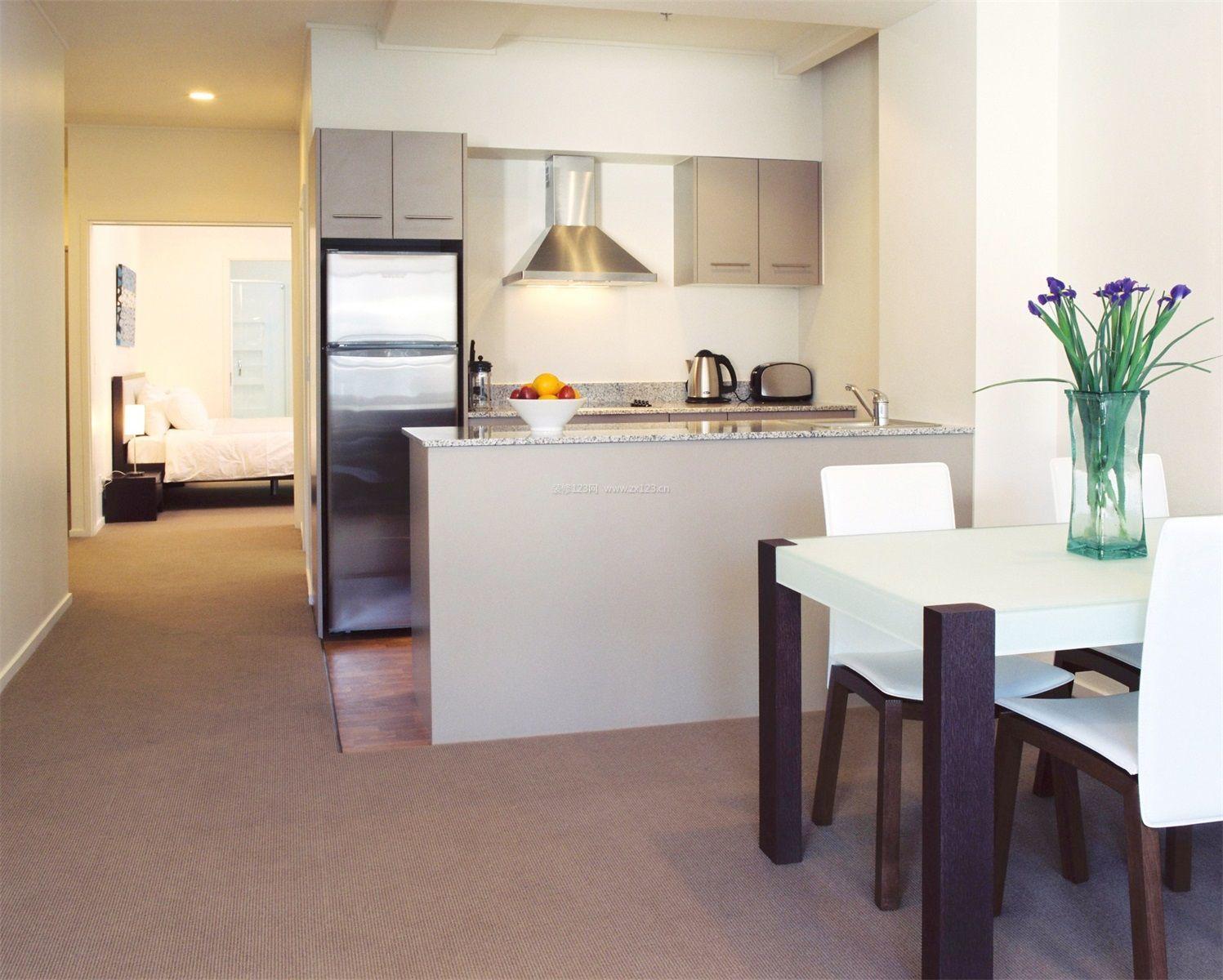 开放式的小厨房装修效果图大全