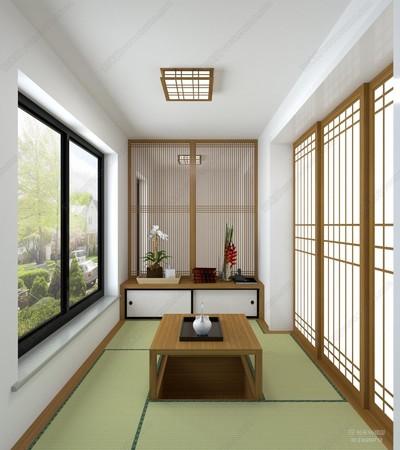 大阳台改卧室装榻榻米效果图大全