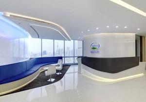 弧形公司背景墙装修效果图