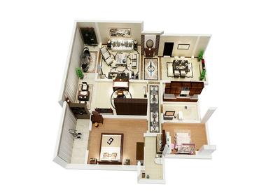 长方形卫生间布局设计图