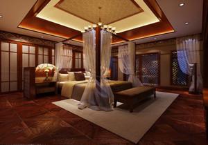 卧室 东南亚 局部 别墅装修