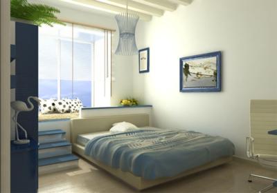 客厅的阳台装修成卧室效果图大全