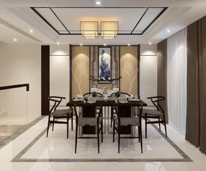 新中式房屋客餐厅吊顶装修效果图大全