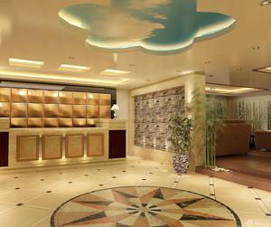 大賓館大廳裝修效果圖,輕奢風格賓館大廳裝修效果圖