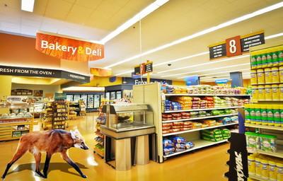 小超市装修内部效果图,50平米小超市装修效果图