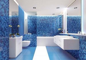 藍色磚衛生間裝修效果圖大全2019圖片